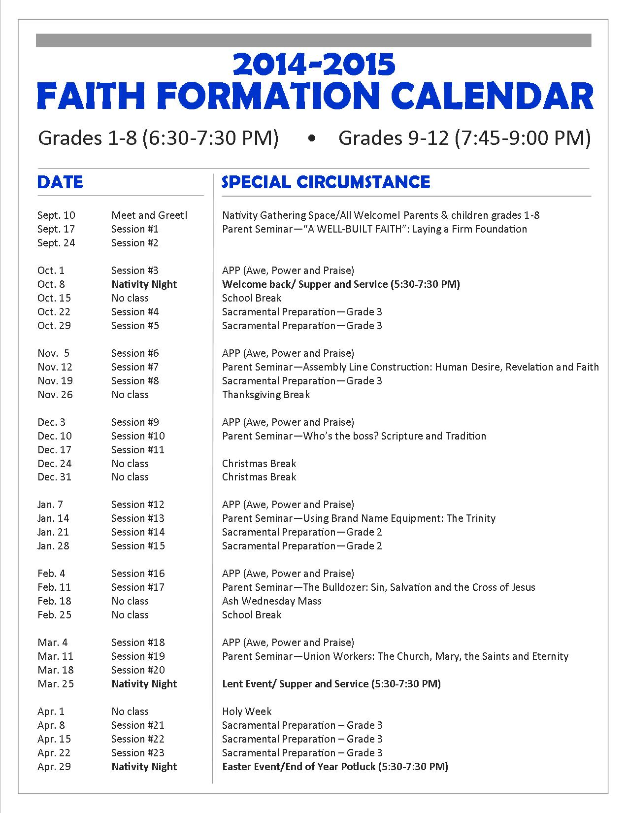 Search Results For Church Calendar 2015 Page 2