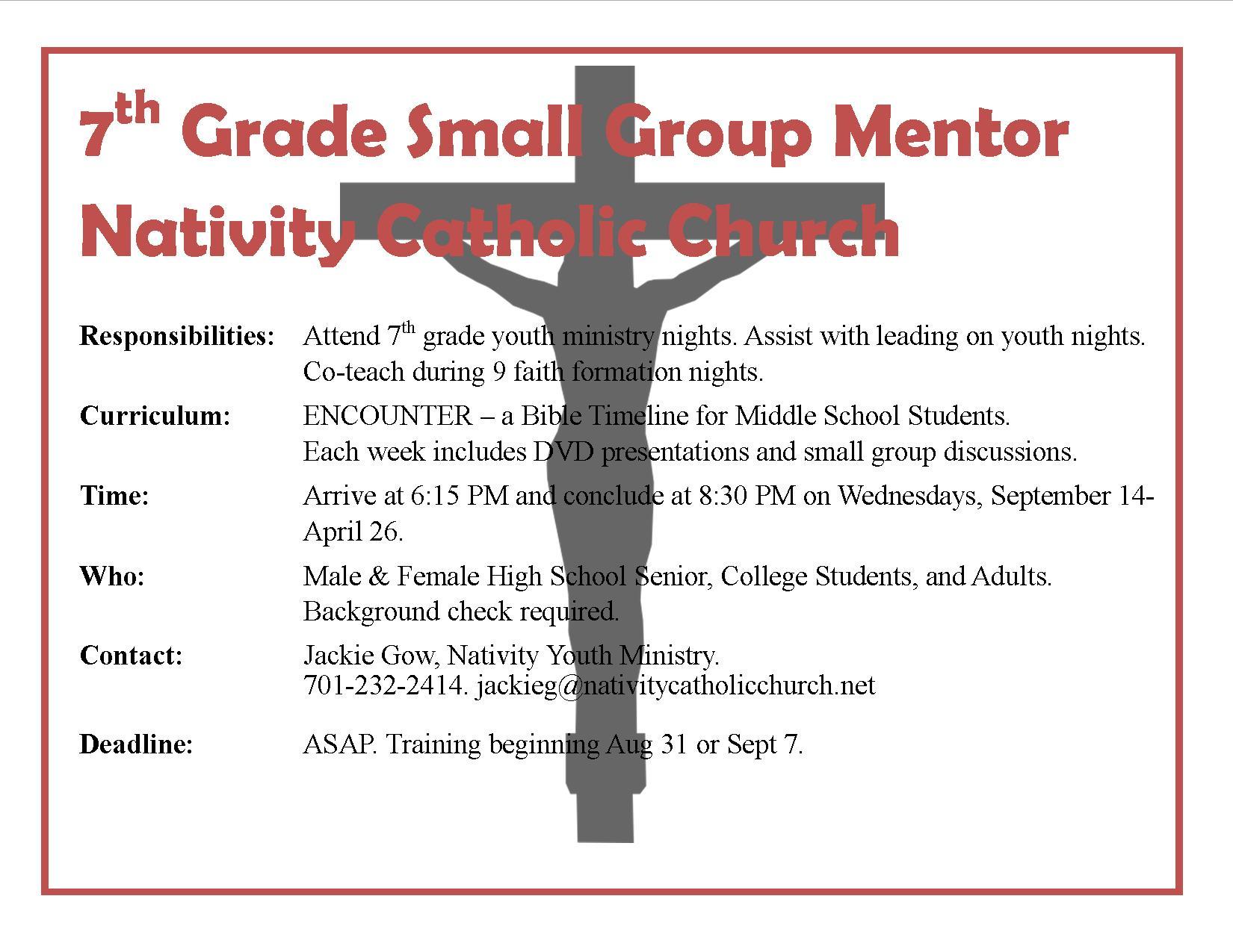 7th Grade Mentor Needed FB
