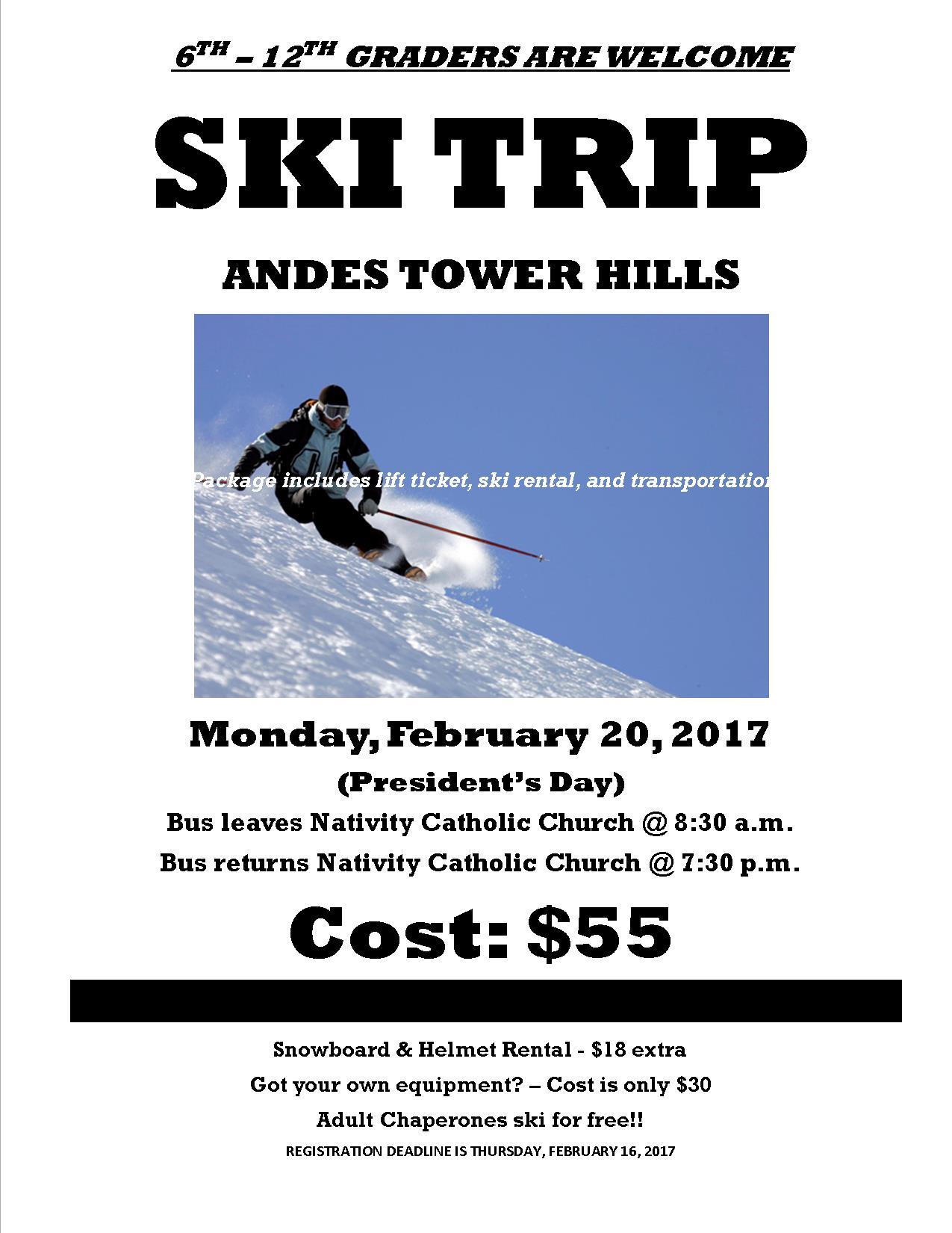 Ski trip website